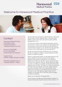 Harewood patient information leaflet